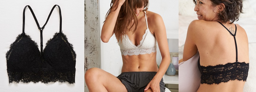 Aerie Romantic Lace Padded Bralette for only $19 (reg $25)