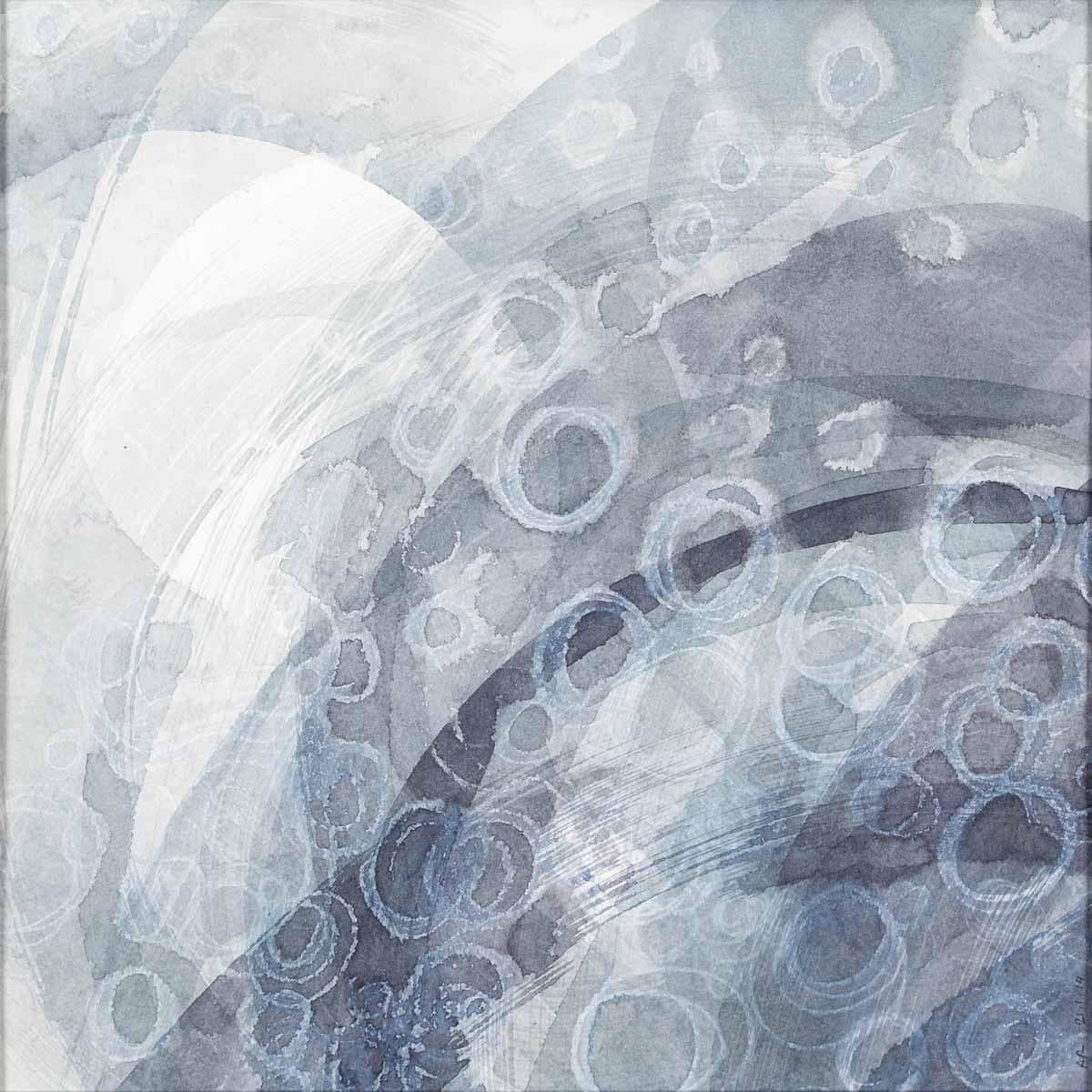 30 x 30 cm, aquarelle et crayons sur papier. En collaboration avec Marina Salzmann, textes. 21 jan 14
