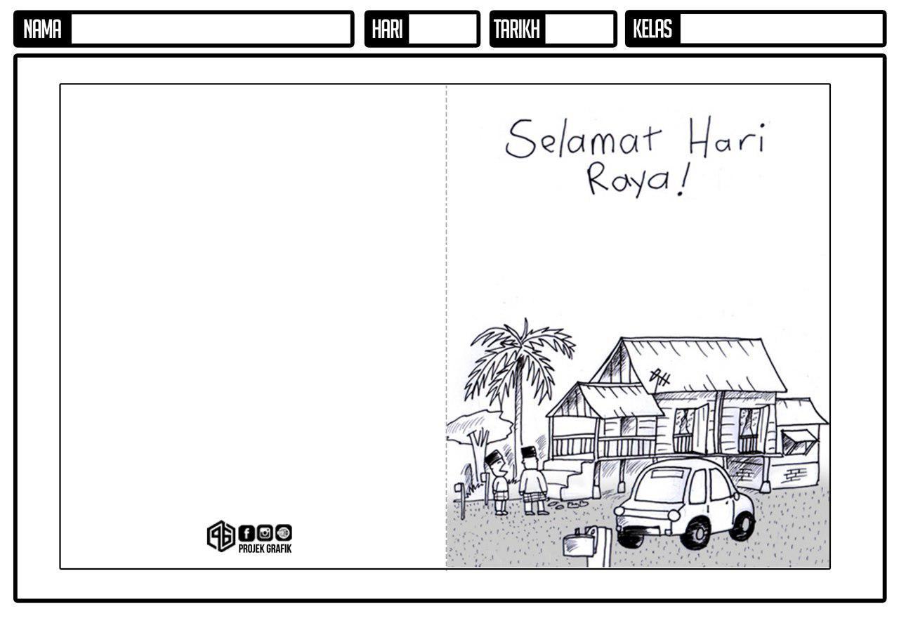 Panitia Pai Sk Kampung Jambu Template Kad Raya