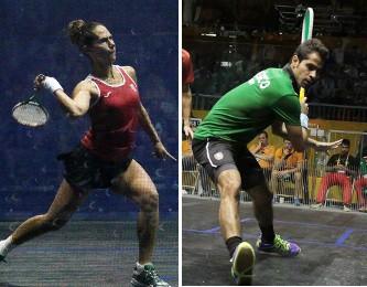 Samantha Terán y César Salazar squash México
