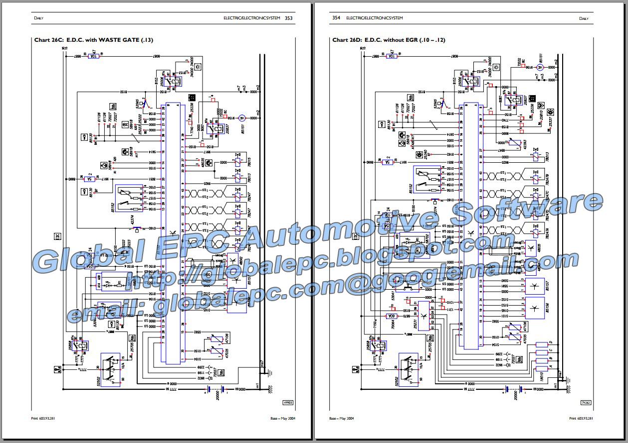 AUTOMOTIVE REPAIR MANUALS: IVECO DAILY 20002006 REPAIR MANUAL & WIRING DIAGRAMS