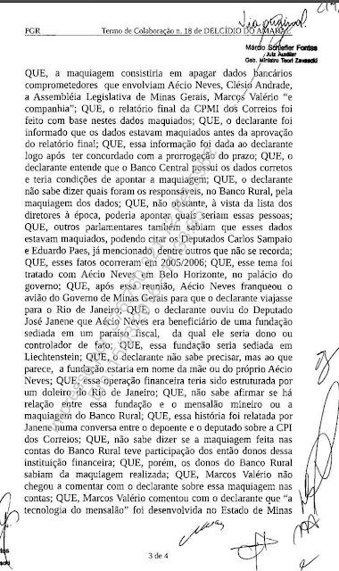 Janot pede mais prazo para inquérito no STF contra Aécio Neves, Paes e Delcídio