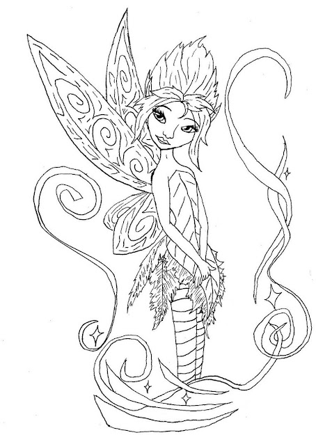 Printable Fairy Coloring Page Fairy Coloring Pages Print  Coloring Page