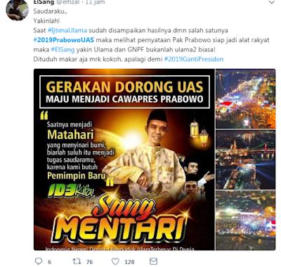 Hashtag #2019PrabowoUAS  Jadi Trending Topic di Twitter