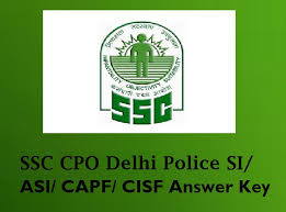 SSC CPO SI ASI Exam Answer key Solved Question paper
