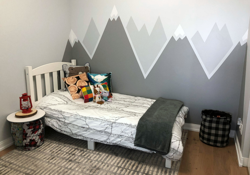 Simple Diy Mountain Wall Mural To Fro