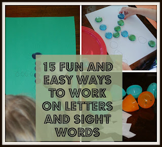 15 letter words preschool activity ideas toddler activity ideas 20012 | 15%2BFun%2Band%2BEasy%2BWays%2Bto%2BWork%2Bon%2BSight%2BWords