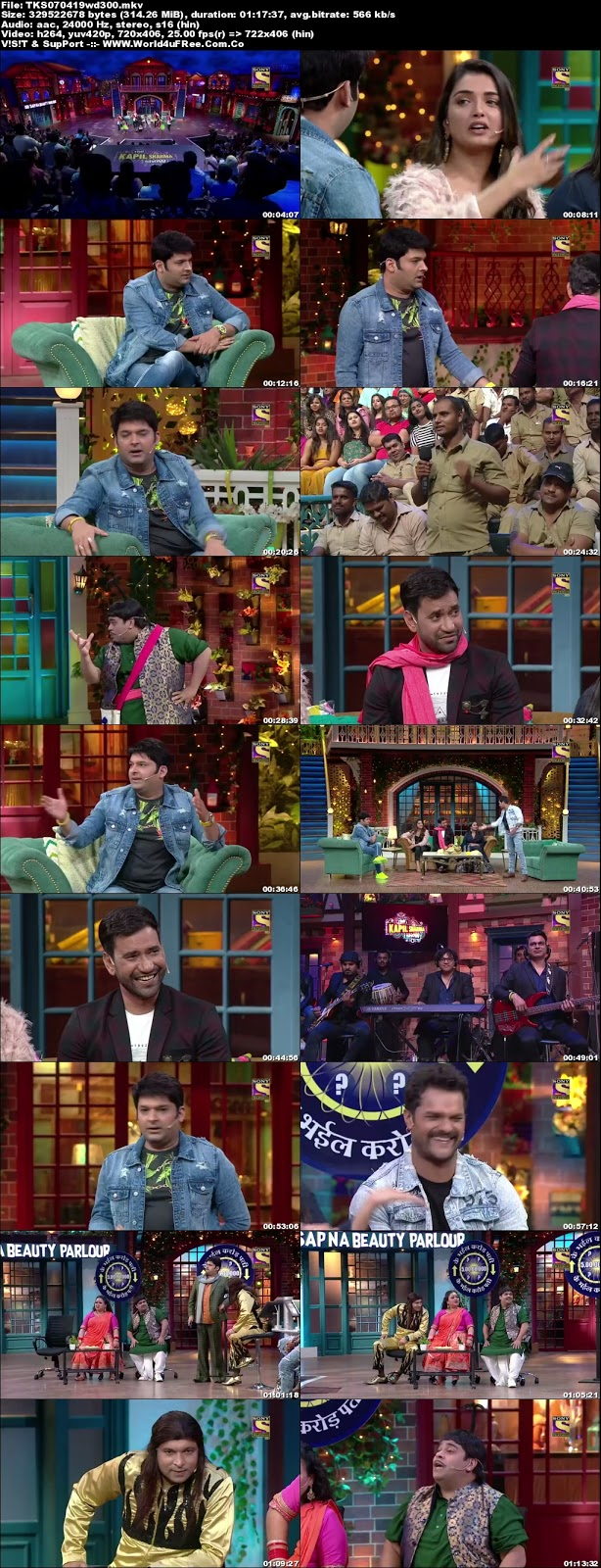 The Kapil Sharma Show S02E30 07 April 2019 480p WEBRip 300Mb