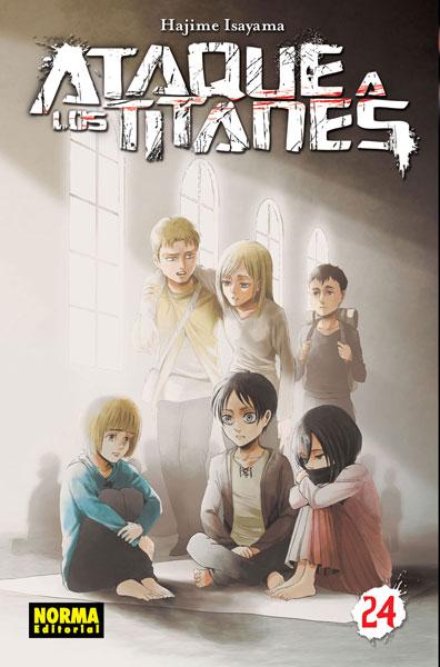 """Reseña de """"Ataque a los Titanes"""" vol.24 de Hajime Isayama - Norma Editorial"""