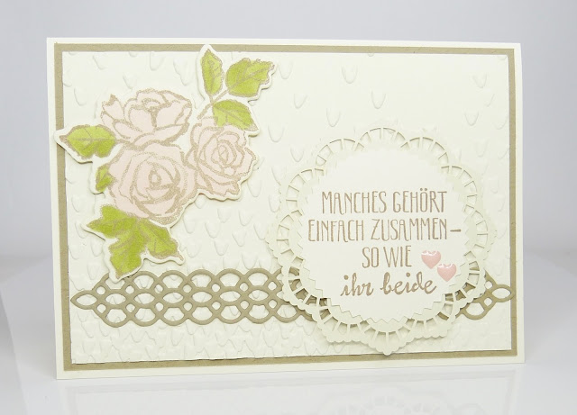 Hochzeitskarte Blütentraum