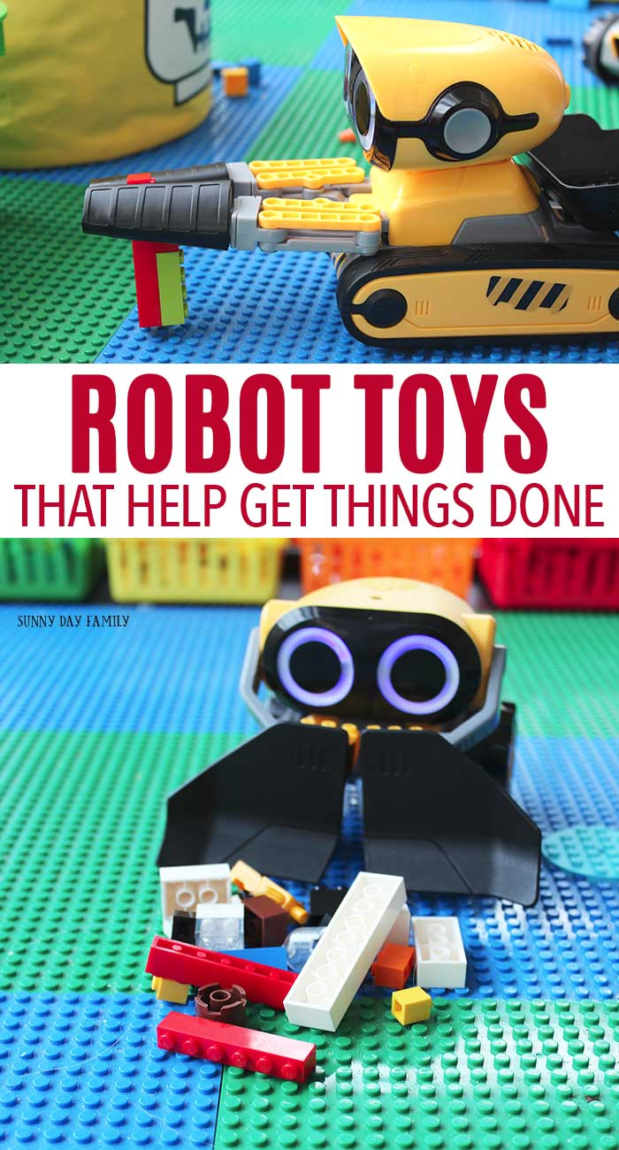 Awesome robot toys that help kids get things done around the house too! #robots #chores #robotoys #wowwee #clvr #ad