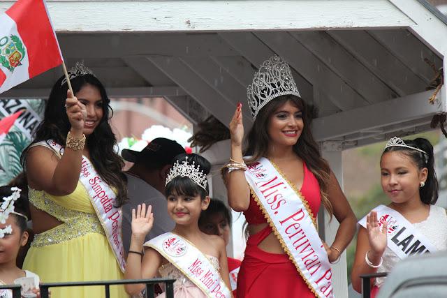 imagenes de las reinas del  desfile peruano de New Jersey 2016