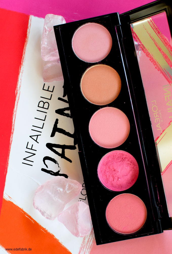 Die neue L'Oréal Infaillable Blush Paint Palette The Pinks