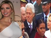 Waduh, Bill Clinton Curi-curi Pandang ke Arah Putri Thrump Saat Pelantikan Presiden AS