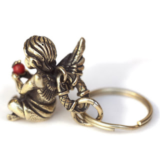 купить подарок на день ангела брелок статуэтка ангелочек из латуни россия симферополь крым