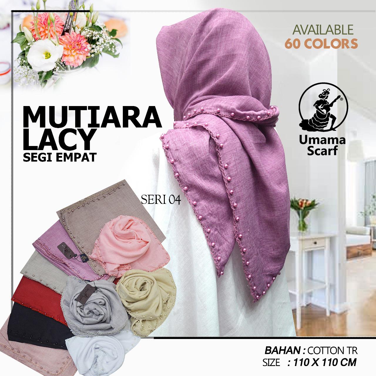Kerudung Mutiara Lacy By Umama Scarf Jilbab Segi Empat All