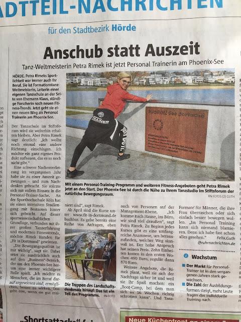 Ruhrnachrichten über Petra Rimek, Personal Training