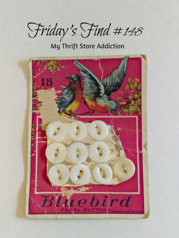 Vintage Bluebird buttons