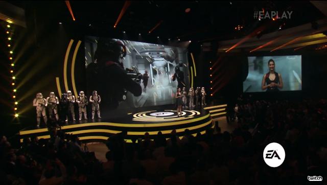Commander Iden Versio Janina Gavankar Star Wars Battlefront II Electronic Arts DICE EA 2017 E3