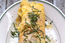 Brown Butter, Peas, and Mint Omelette