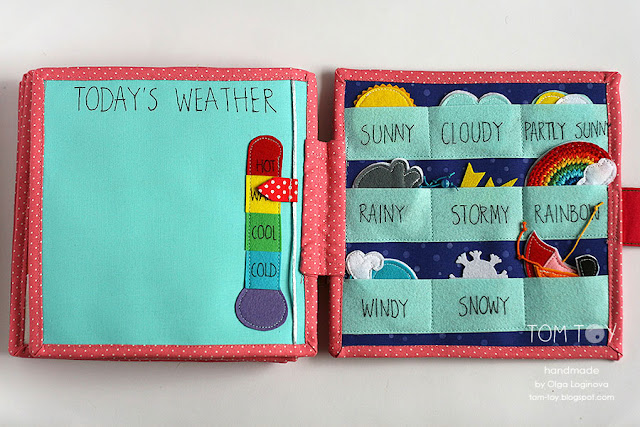 Quiet book for Liberty, Busy book, Felt weather station, Развивающая книжка