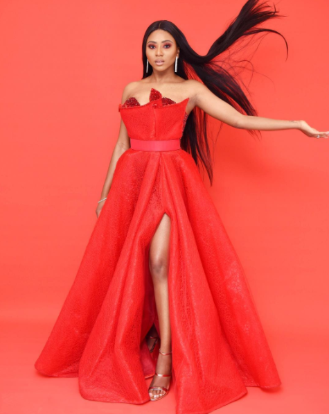 STEPHANIE COKER IS A VISION IN RED