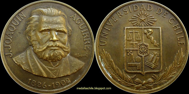 Medalla José Joaquin Aguirre Universidad de Chile Medicina