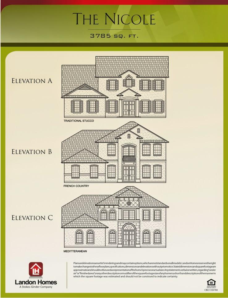Nicole Floor Plan Benton Lakes Jacksonville New Build Homes Landon
