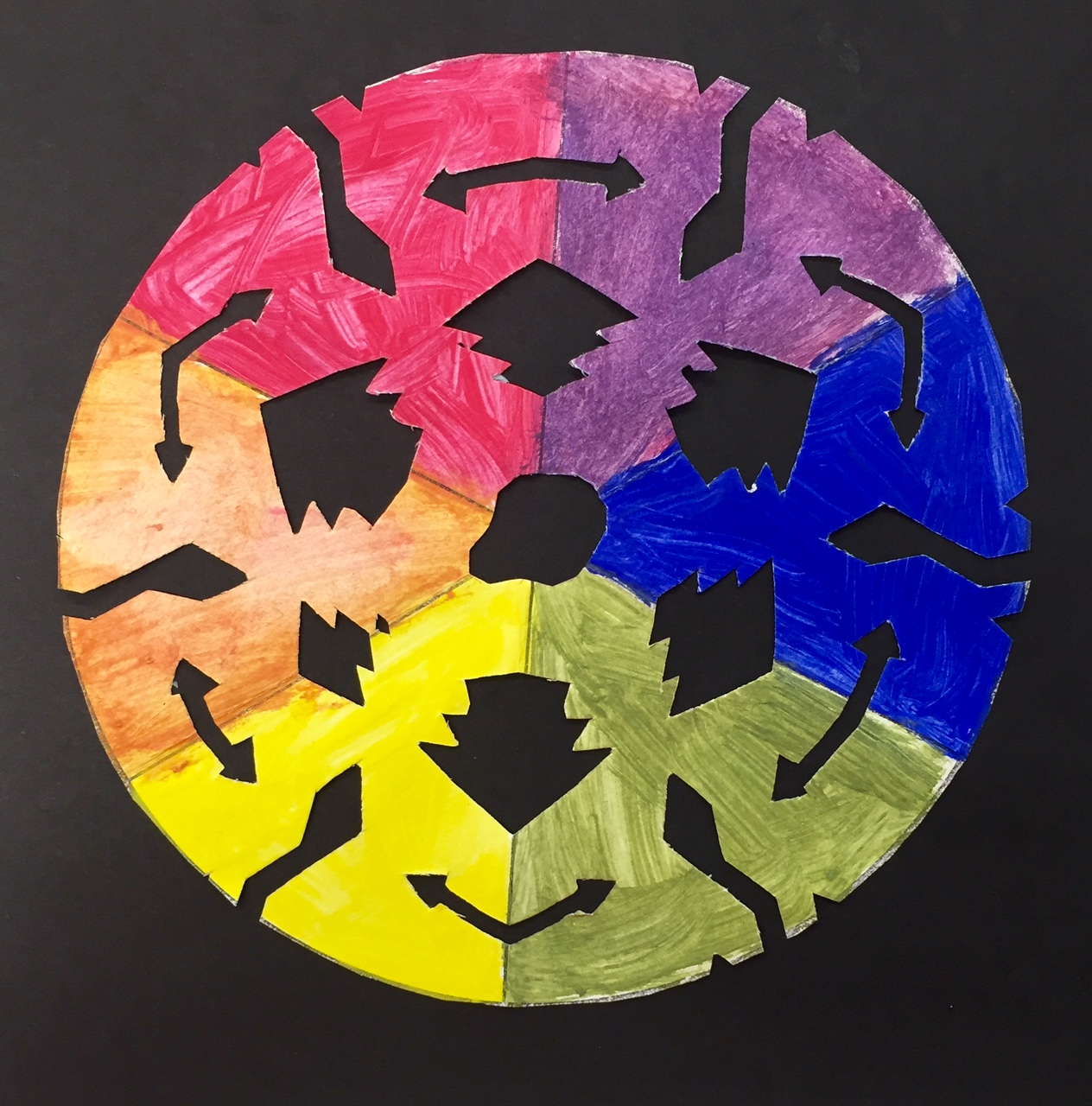 The Results Were Beautiful Creative And Unique Just Like Snowflakes No Two Color Wheels Are Same