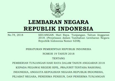 Peraturan Pemerintah (PP) Nomor 19 Tahun 2018