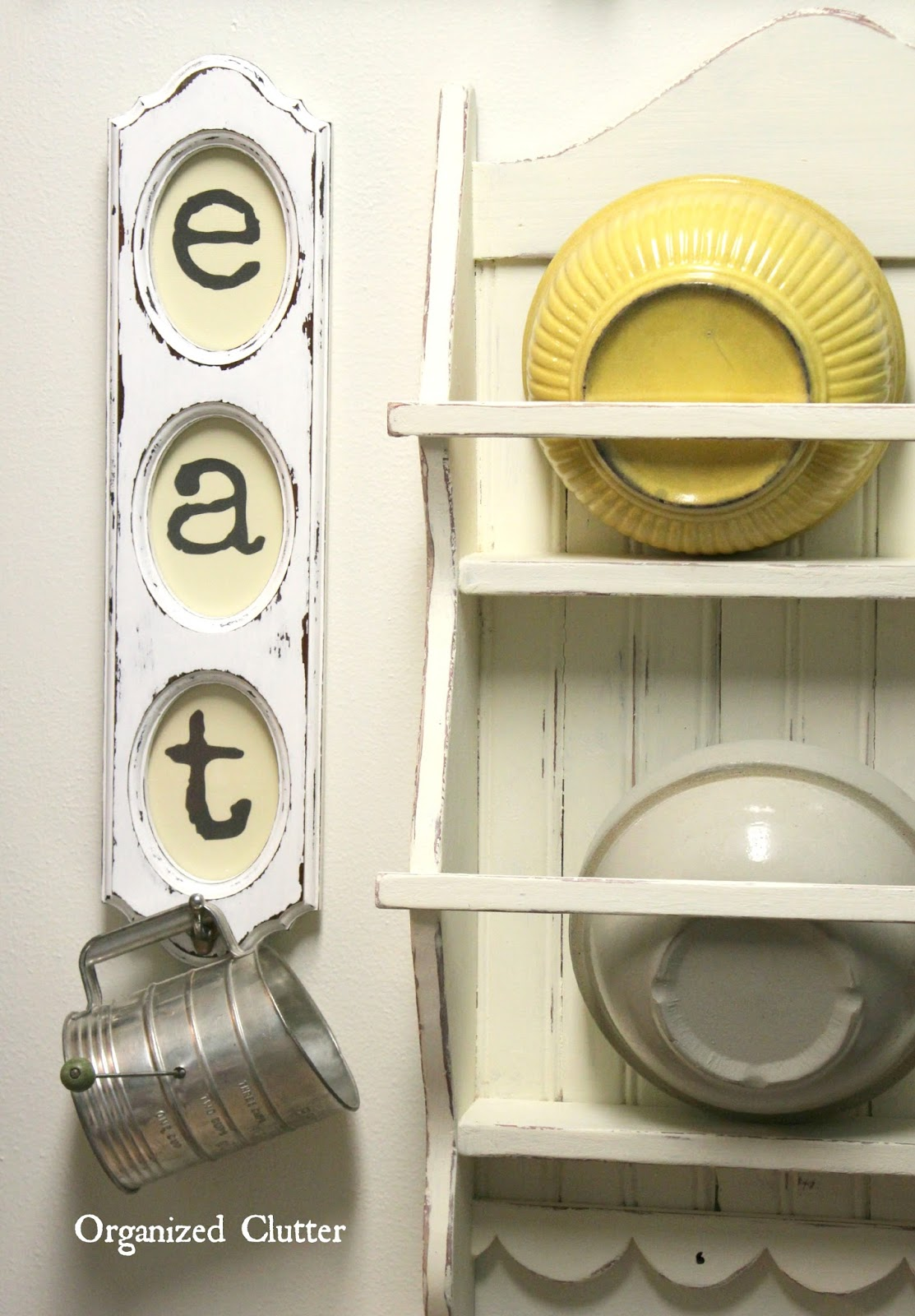 Rummage Sale Frame Upcycled Into Kitchen Fun www.organizedclutter.net
