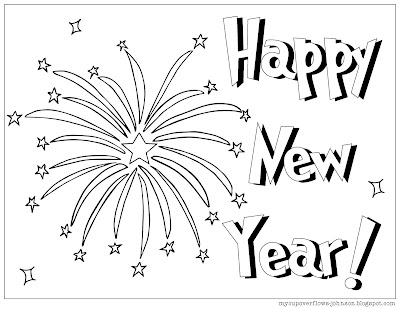 free coloring page for New Year