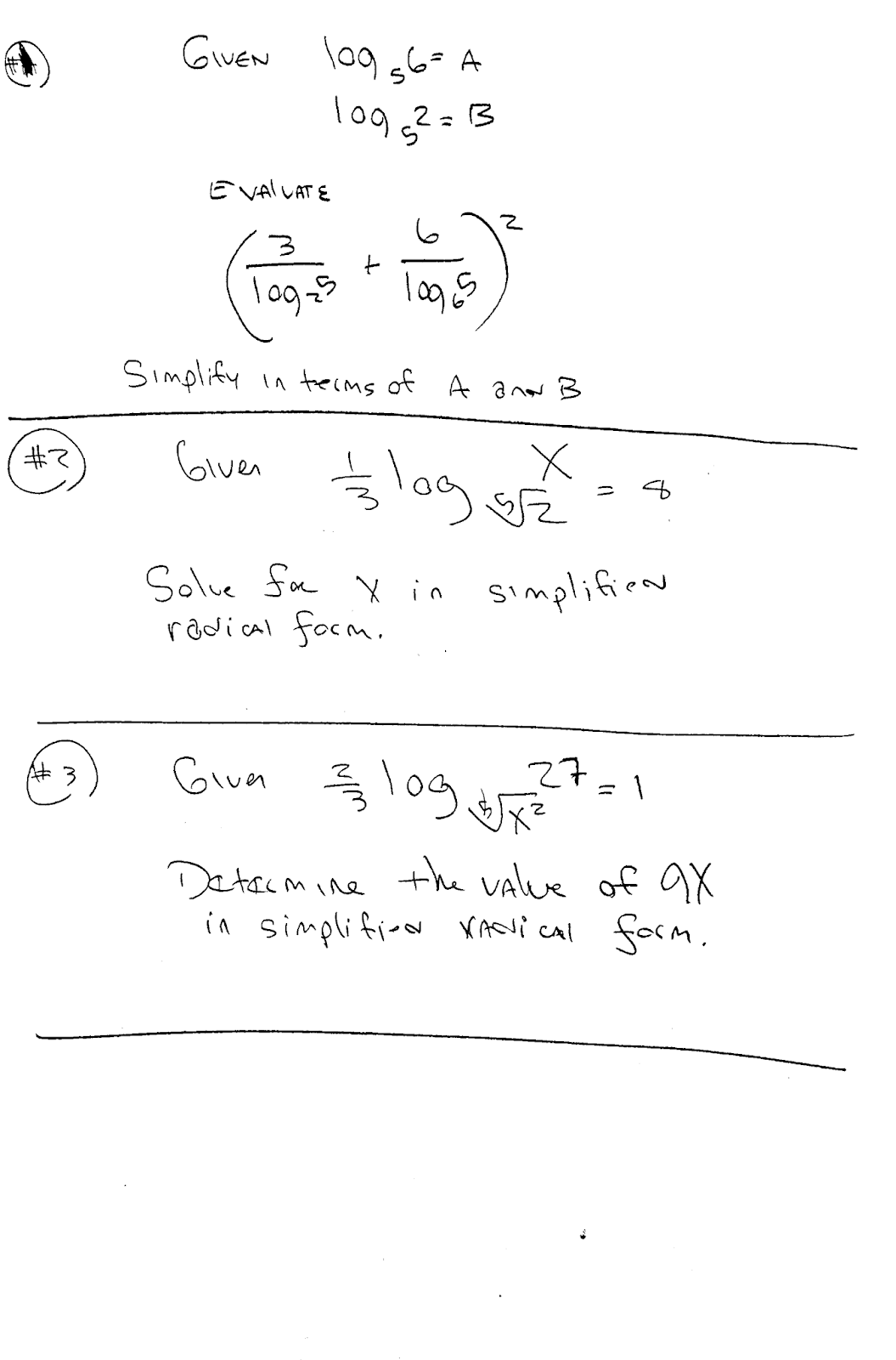 Pre Calculus Chapter 3 Exponential And Logarithmic