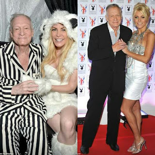 Photos of Hugh and Crystal Hefner