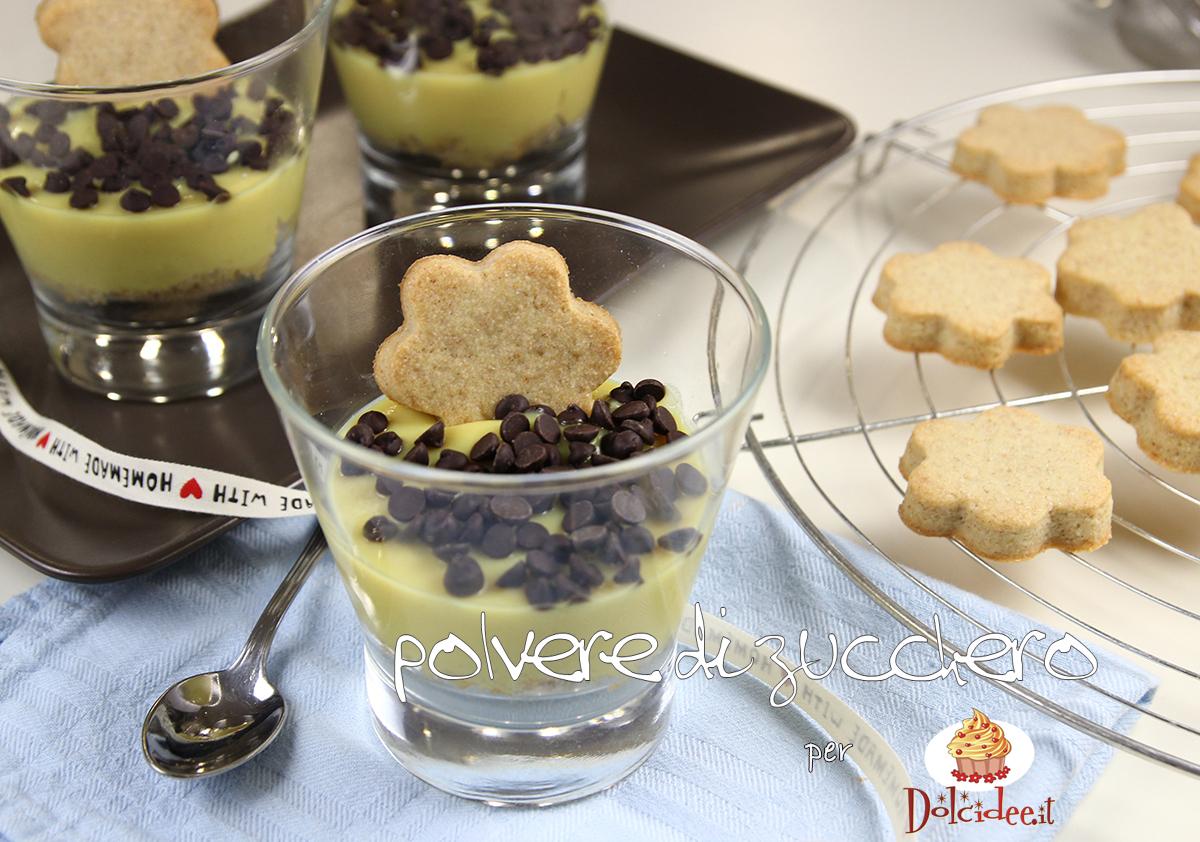 crema pasticcera vegana biscotti al farro ricette tutorial bicchieri food polvere di zucchero cameo paneangeli dolcidee