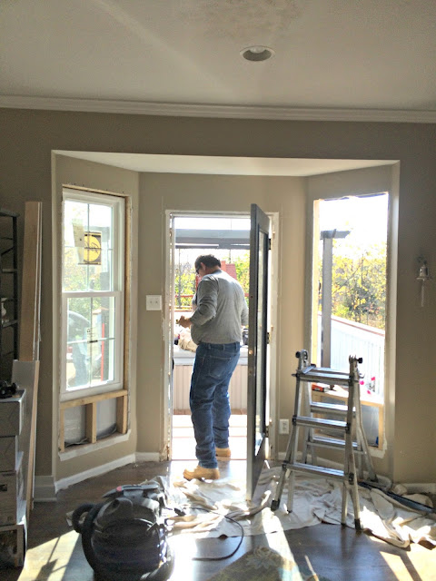 Creating a window seat in kitchen