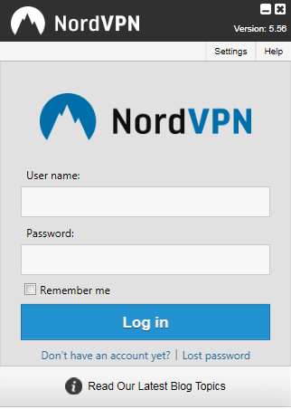 Login Into Nord VPN