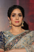 Sri Devi in designer saree stunning beauty at the launch of MOM movie Trailer~  Exclusive 045.JPG