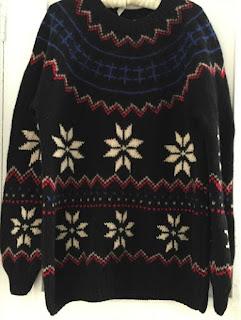 1980s chunky knit fair isle sweater
