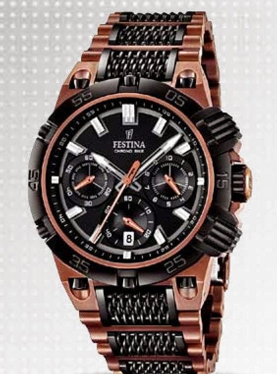 bb53db10305 Man chronograph – Quartz movement – Sapphire glass with 3 layers  anti-reflection – Stainless steel case 44 mm. – Stainless steel bracelet  with IP plating ...