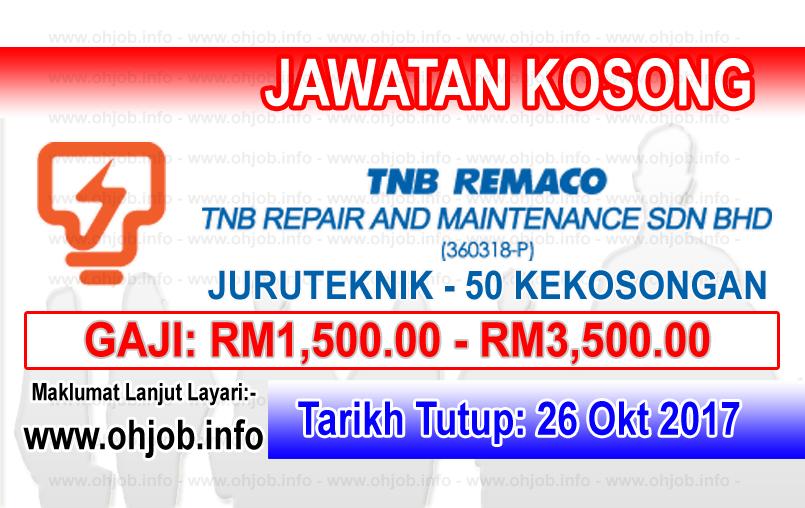 Jawatan Kerja Kosong TNB Remaco logo www.ohjob.info oktober 2017