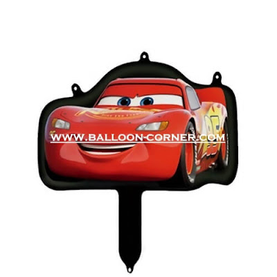 Balon Foil Cars Mini (Merah)