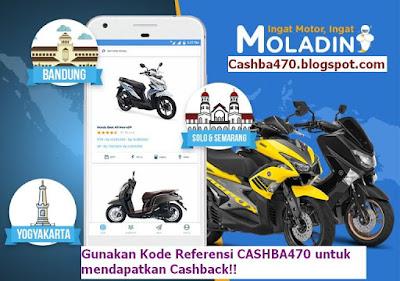 Kredit Motor Online Moladin melayani Area Jakarta,Bogor, Depok, Tangerang, Bekasi, Bandung, Yogyakarta, Solo, Semarang