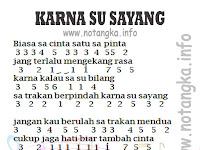Not Angka Karna Su Sayang Print Able!!
