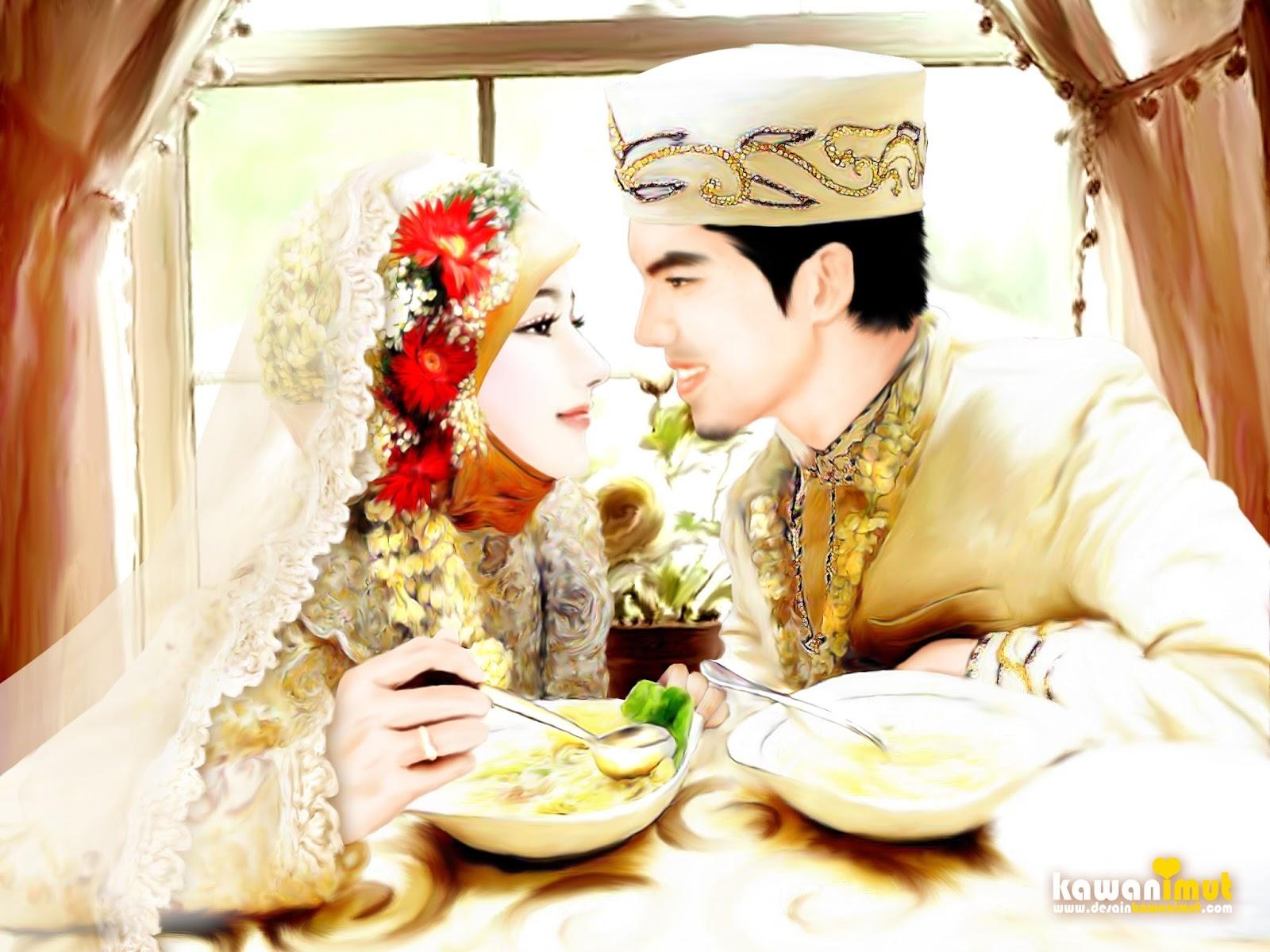 Gambar Kartun Muslimah Pasangan Romantis Kantor Meme