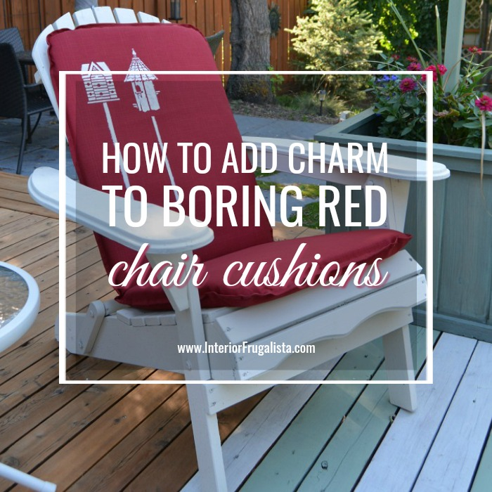 How To Add Charm To Boring Red Cushions