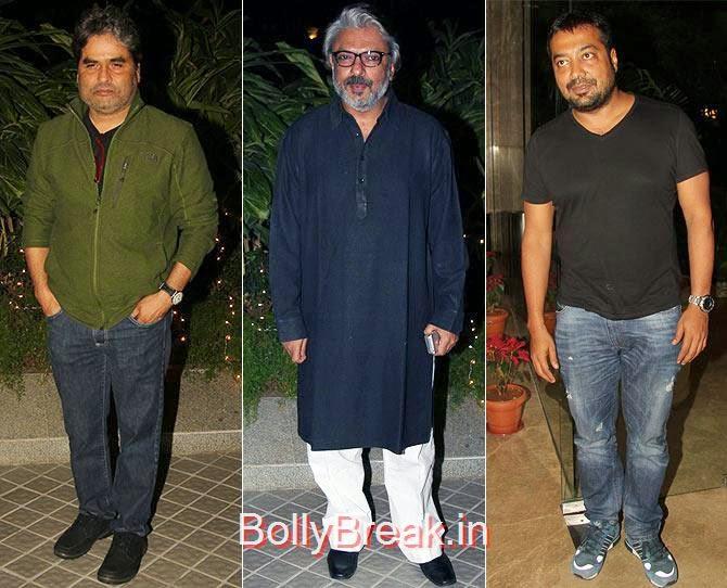 Vishal Bharadwaj, Sanjay Leela Bhansali and Anurag Kashyap, Bollywood Celebrities At Farah Khan's GRAND 50th Birthday Party