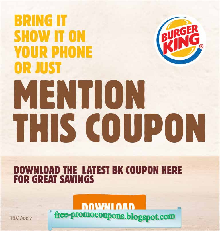 Bk coupon codes