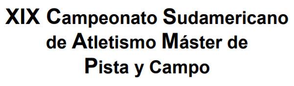 XIX Campeonato Sudamericano de Atletismo Máster de pista y campo (Santiago de Chile, 06a12/nov/2017