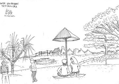 sketsa Pantai Bandengan